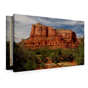 Premium Textil-Leinwand 90 cm x 60 cm quer Sedona - Red Rocks