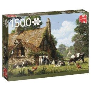 Kühe auf einem Bauernhof - 1500 Teile Puzzle