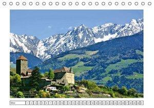 Südtirol im Frühling. Etschtal, Überetsch und Unterland. (Tischk