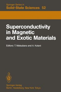 Superconductivity in Magnetic and Exotic Materials