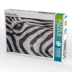 Der Blick des Zebras 1000 Teile Puzzle quer