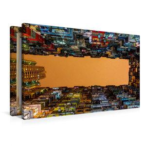 Premium Textil-Leinwand 90 cm x 60 cm quer Wohnkomplexe in Cause
