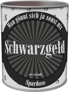 """Spardose \""""Schwarzgeld\"""""""