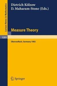 Measure Theory Oberwolfach 1983