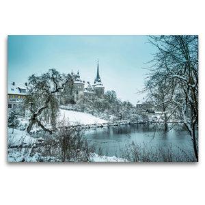 Premium Textil-Leinwand 120 cm x 80 cm quer Schloss Ahorn bei Co