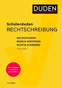 Schülerduden Rechtschreibung und Wortkunde (kartoniert)