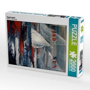 Segelregatta 2000 Teile Puzzle hoch