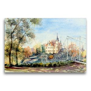 Premium Textil-Leinwand 75 cm x 50 cm quer Gattersburg