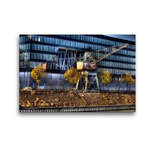 Premium Textil-Leinwand 45 cm x 30 cm quer Duisburger Innenhafen