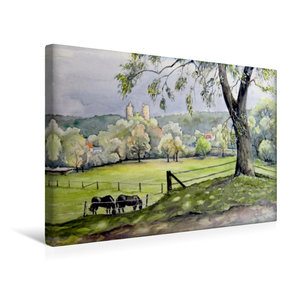 Premium Textil-Leinwand 45 cm x 30 cm quer Landschaft am Saaleck