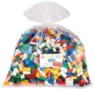 Riesen Sack voll Bausteine in Basic Mischfarben. 1.000 Teile