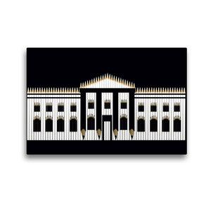 Premium Textil-Leinwand 45 cm x 30 cm quer Weißes Haus, USA
