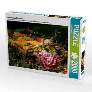 Herbstliches Stillleben 2000 Teile Puzzle quer