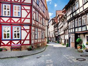 CALVENDO Puzzle Historische Altstadt von Hannoversch Münden 1000
