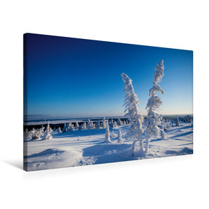 Premium Textil-Leinwand 75 cm x 50 cm quer Kalter Schnee in Kare
