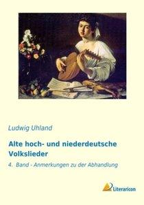 Alte hoch- und niederdeutsche Volkslieder