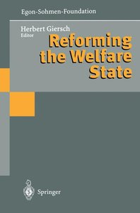 Reforming the Welfare State