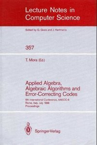 Applied Algebra, Algebraic Algorithms and Error-Correcting Codes