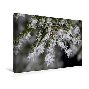 Premium Textil-Leinwand 45 cm x 30 cm quer Eiskristalle