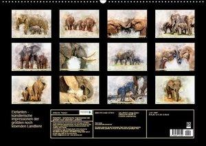 Elefanten - künstlerische Impressionen der größten noch lebenden