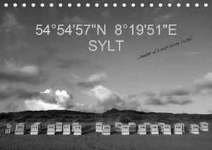 54°54\'57\'N 8°19\'51\'E SYLT (Tischkalender 2020 DIN A5 quer)