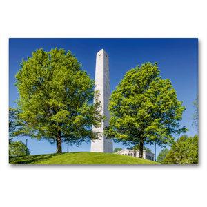 Premium Textil-Leinwand 90 cm x 60 cm quer BOSTON Bunker Hill Mo