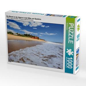 Ein Strand an der Algarve in der Nähe von Quarteira 1000 Teile P