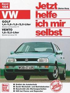 VW Golf 1,4-/1,6-/1,8-/2,0-Liter / VW Vento 1,8-/2,0-Liter. Jetz