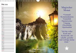 Tarot. Spirituell durch das Jahr (Wandkalender 2020 DIN A3 quer)