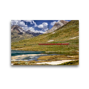 Premium Textil-Leinwand 45 cm x 30 cm quer Der rote Zug