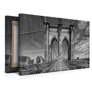 Premium Textil-Leinwand 45 cm x 30 cm quer NEW YORK CITY Brookly