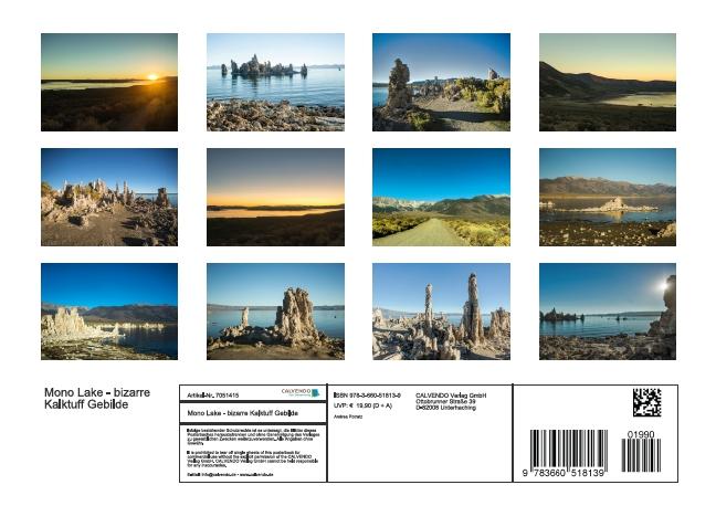 Mono Lake - bizarre Kalktuff-Gebilde (Posterbuch DIN A4 quer) - zum Schließen ins Bild klicken