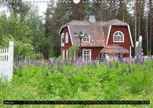 Sommer in Schwedens Lappland (Wandkalender 2020 DIN A3 quer)