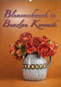 Blumenschmuck in Bunzlau Keramik (Wandkalender 2019 DIN A2 hoch)