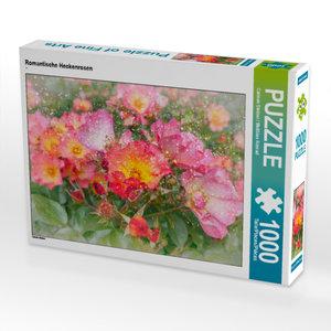 CALVENDO Puzzle Romantische Heckenrosen 1000 Teile Lege-Größe 64