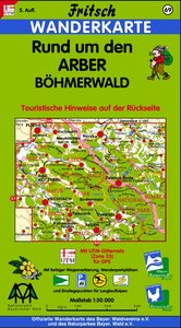 Rund um den Arber / Böhmerwald 1 : 50 000. Fritsch Wanderkarte