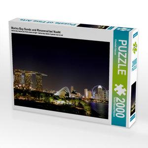CALVENDO Puzzle Marina Bay Sands und Riesenrad bei Nacht 2000 Te