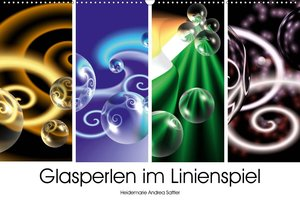 Glasperlen im Linienspiel (Wandkalender 2020 DIN A2 quer)
