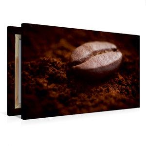 Premium Textil-Leinwand 75 cm x 50 cm quer Eine Kaffebohne liegt