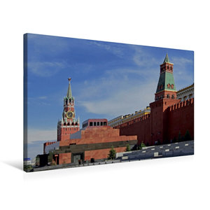 Premium Textil-Leinwand 75 cm x 50 cm quer Roter Platz mit Lenin