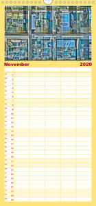 Abstrakt - Familienplaner hoch (Wandkalender 2020 , 21 cm x 45 c