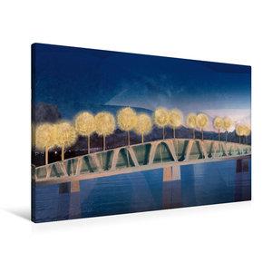 Premium Textil-Leinwand 90 cm x 60 cm quer Die Brücke