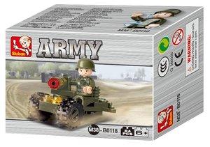 Sluban ARMY M38-B0118 - Kanone mit Soldat, 24 Teile
