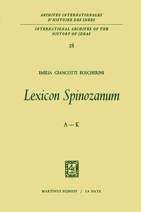 Lexicon Spinozanum