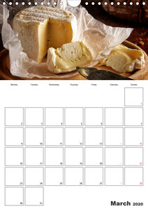 Delicious! Gourmet Food Calendar / UK-Version / Organizer (Wall