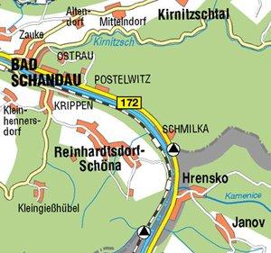Hintere Sächsische Schweiz Blatt 01. Schrammsteine, Affensteine,