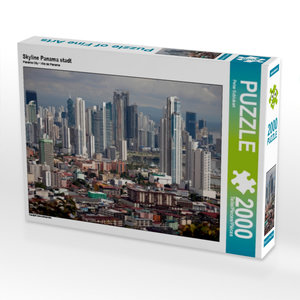 Skyline Panama stadt 2000 Teile Puzzle quer