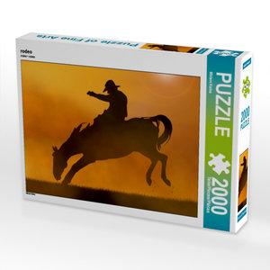 CALVENDO Puzzle rodeo 2000 Teile Lege-Größe 90 x 67 cm Foto-Puzz