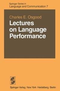 Lectures on Language Performance