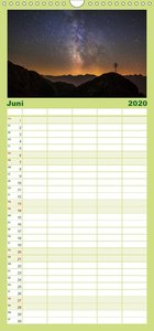 Starry Nightscapes - Familienplaner hoch (Wandkalender 2020 , 21